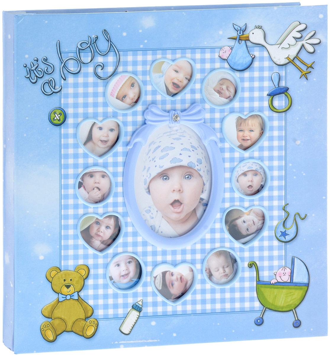 Фотоальбом Platinum Первые 12 месяцев, 30 листов, цвет: голубой. 9840-303М1425_голубой/9840-30Фотоальбом Platinum Первые 12 месяцев, изготовленный из картона с клеевым покрытием и пленки ПВХ, поможет сохранить вам самые важные и счастливые события жизни вашего ребенка. Этот альбом станет драгоценной памятью для всей вашей семьи. Обложка выполнена из толстого картона и оформлена милыми изображениями. Лицевая сторонаобложки оснащена 13 окошками для фотографий вашего ребенка.Внутри содержится 30 магнитных листов. Альбом с магнитными листами удобен тем, что он позволяет размещать фотографии разных размеров. Нам всегда так приятно вспоминать о самых счастливых моментах жизни, запечатленных на фотографиях. Размер листа: 28 х 32,5 см.