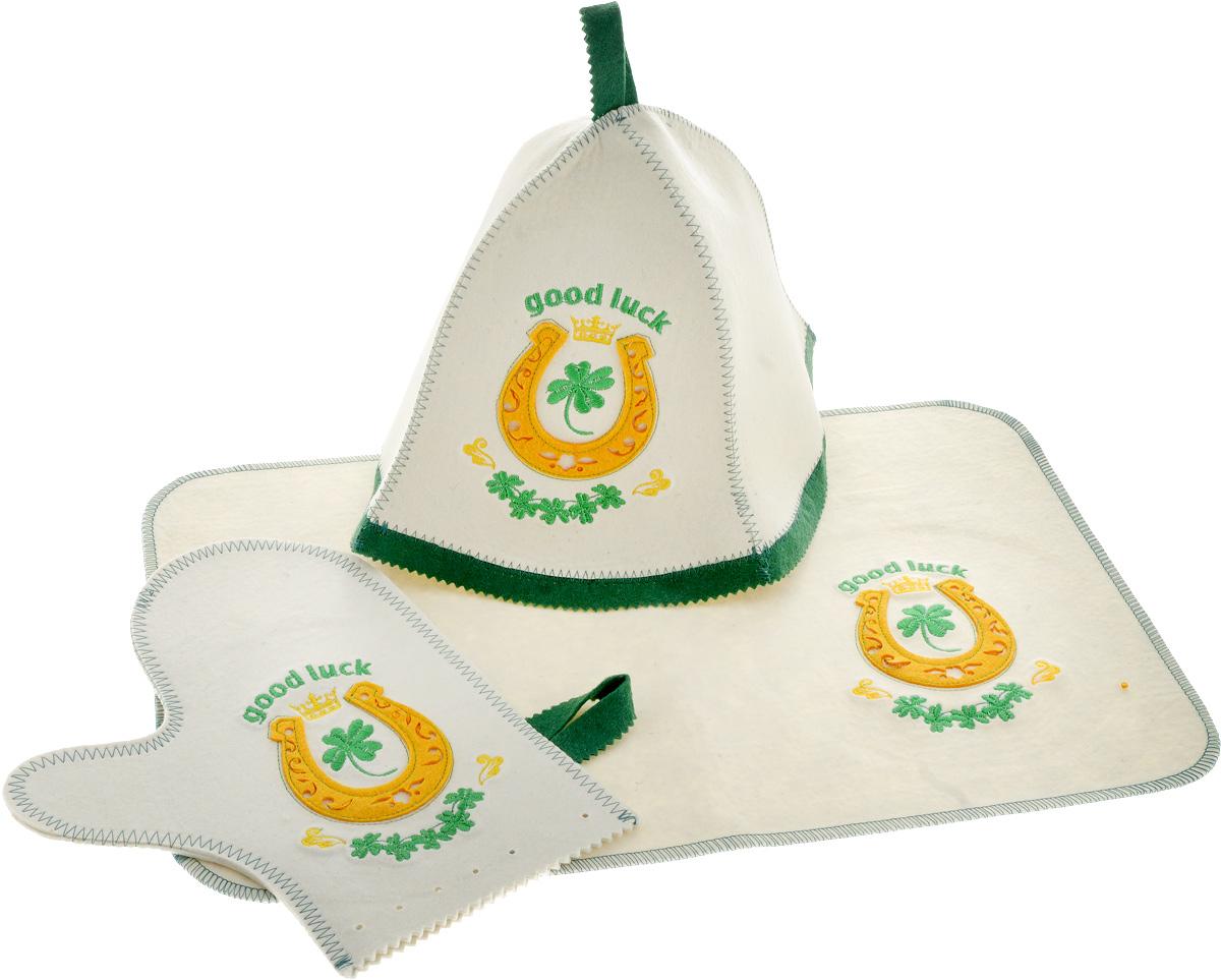 Набор для бани и сауны Доктор Баня Подарочный №2, 3 предмета шапка для бани и сауны доктор баня классическая кант