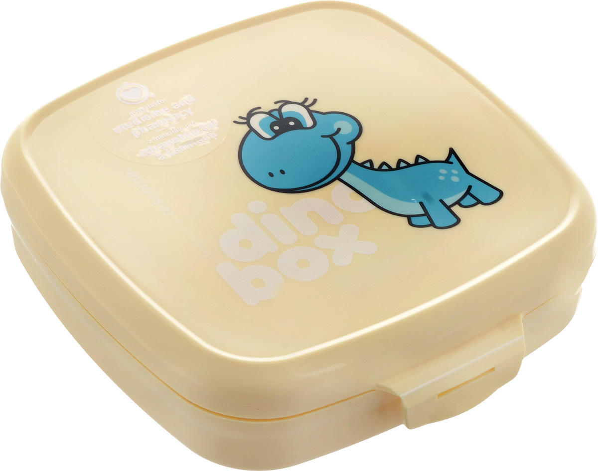 """Если вы сторонники здорового образа жизни, тогда вы по  достоинству оцените контейнер Tescoma """"Dino"""".  Он сделан из сертифицированного материала, легкий и  удобный в использовании, а также выполнен в веселом  дизайне, который обязательно оценят дети. Контейнер предназначен для упаковки и дальнейшей  переноске закусок и легких обедов в школу, в поездку, на  тренировку. Материал, из которого изготовлен пластиковый  контейнер Tescoma """"Dino"""", прошел через десятки строгих  тестов и гарантированно не содержит опасные и вредные  вещества. На контейнере выполнена качественная печать  изображения динозавра, которая отлично сохраняется даже  во время интенсивной мойки посуды. Можно мыть в  посудомоечной машине. Размер контейнера: 15 х 15 х 4,5 см."""