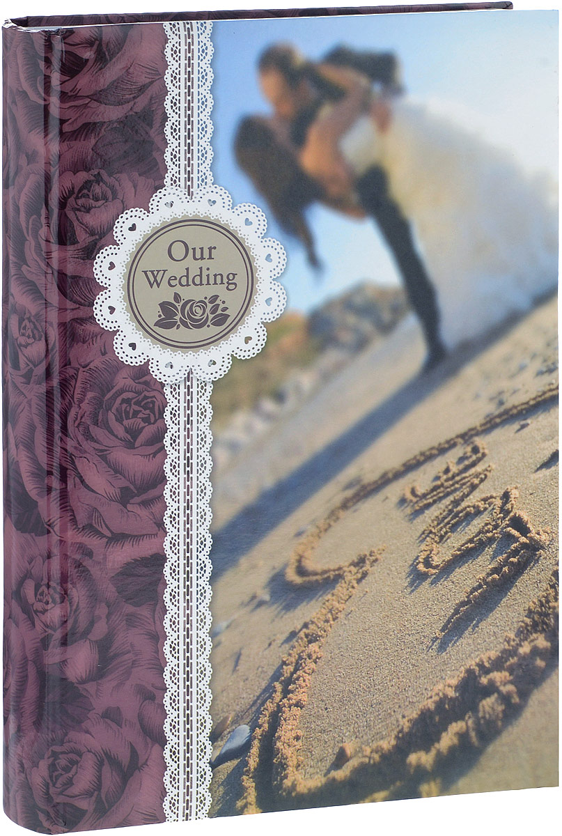 Фотоальбом Platinum Наша свадьба - 2, 300 фотографий, 10 х 15 см, цвет: бордовый, бежевый, голубой. С-46300RCL32021_у моря/С-46300RCLФотоальбом Platinum Наша свадьба - 2 поможет красиво оформить ваши фотографии. Обложка выполнена из толстого картона и декорирована оригинальным рисунком. Внутри содержится блок из 50 листов с фиксаторами-окошками из полипропилена. Альбом рассчитан на 300 фотографий формата 10 х 15 см (по 3 фотографии на странице). Листы имеют поля для подписи. Переплет - книжный. Нам всегда так приятно вспоминать о самых счастливых моментах жизни, запечатленных на фотографиях. Поэтому фотоальбом является универсальным подарком к любому празднику.Количество листов: 50.