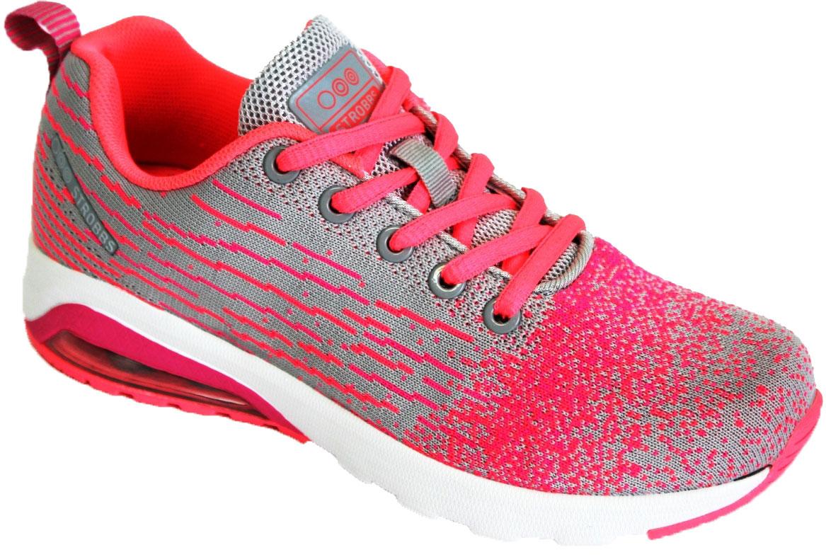 Кроссовки женские Strobbs, цвет: розовый, серый. F6476-11. Размер 37F6476-11Стильные женские кроссовки Strobbs отлично подойдут для активного отдыха и повседневной носки. Верх модели выполнен из текстиля. Удобная шнуровка надежно фиксирует модель на стопе. Подошва обеспечивает легкость и естественную свободу движений. Для лучшей амортизации в пяточную часть подошвы добавлена воздушная прослойка.Мягкие и удобные, кроссовки превосходно подчеркнут ваш спортивный образ и подарят к