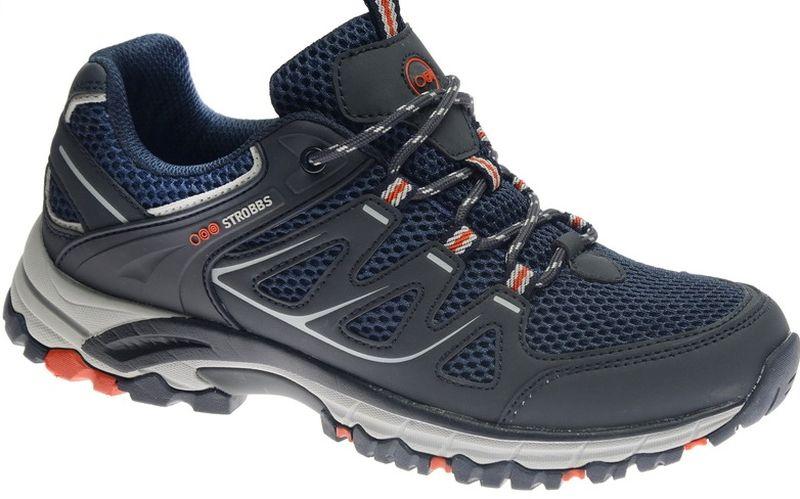 Кроссовки мужские Strobbs, цвет: синий. C2447-2. Размер 44C2447-2Стильные мужские кроссовки Strobbs отлично подойдут для активного отдыха и повседневной носки. Верх модели выполнен из микрофибры и искусственной кожи. Удобная шнуровка надежно фиксирует модель на стопе. Толстая, протекторная подошва позволяет комфортно ощущать себя на каменистой поверхности. Промежуточный слой подошвы выполнен из ЭВА-материала, что позволяет снизить вес обуви.