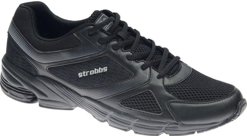 Кроссовки мужские Strobbs, цвет: черный. C2427-3. Размер 48C2427-3Стильные мужские кроссовки Strobbs отлично подойдут для активного отдыха и повседневной носки. Верх модели выполнен из текстиля и искусственной кожи. Удобная шнуровка надежно фиксирует модель на стопе. Подошва обеспечивает легкость и естественную свободу движений. Мягкие и удобные, кроссовки превосходно подчеркнут ваш спортивный образ и подарят комфорт.