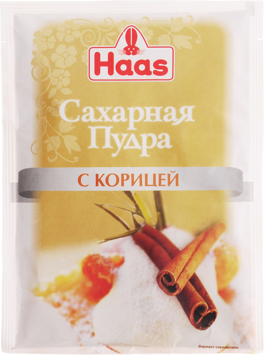 Haas сахарная пудра с корицей, 80 г