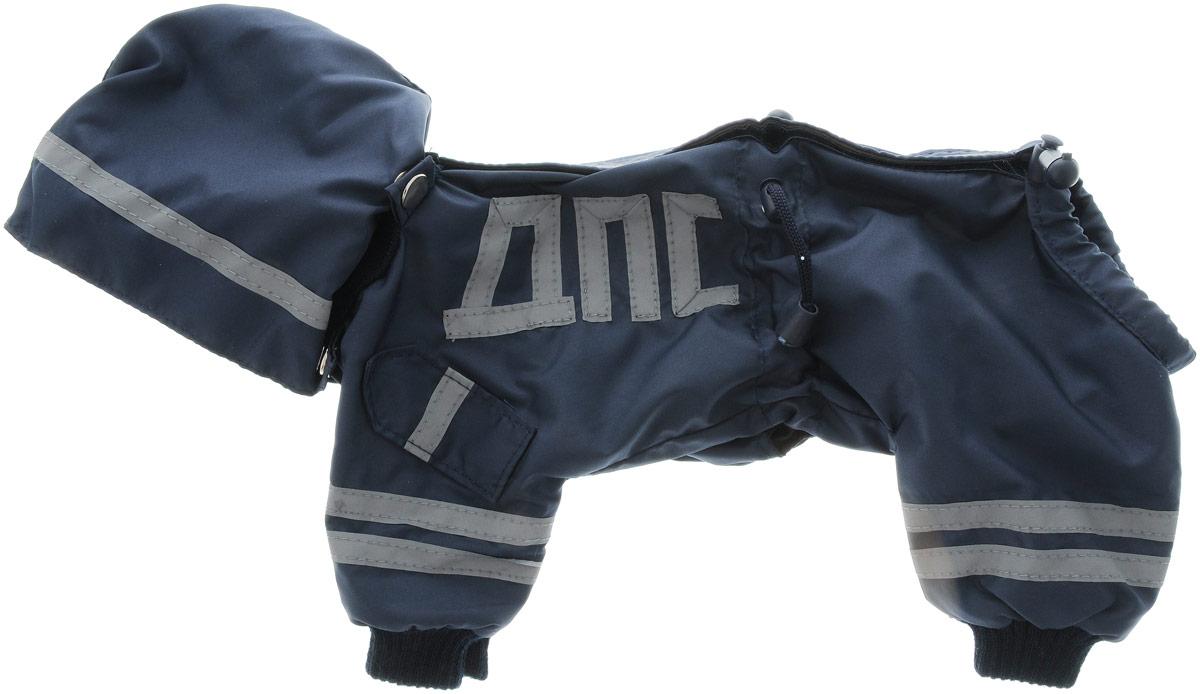 Комбинезон для собак Kuzer-Moda ДПС, для мальчика, двухслойный. Размер 25KZ002993Комбинезон Kuzer-Moda ДПС предназначен для собак мелких пород. Изделие отлично подойдет для прогулок в прохладную погоду.Комбинезон изготовлен из прочной ткани, которая сохранит тепло и обеспечит отличный воздухообмен. Комбинезон застегивается на кнопки и липучки, благодаря чему его легко надевать и снимать. Ворот, низ рукавов и брючин оснащены резинками, которые мягко обхватывают шею и лапки, не позволяя просачиваться холодному воздуху. На пояснице имеются затягивающиеся шнурки, которые также помогают сохранить тепло.Благодаря такому комбинезону простуда не грозит вашему питомцу, и он не даст любимцу продрогнуть на прогулке.Размер: 25.Обхват: груди: 36 см.Обхват шеи: 16 см.