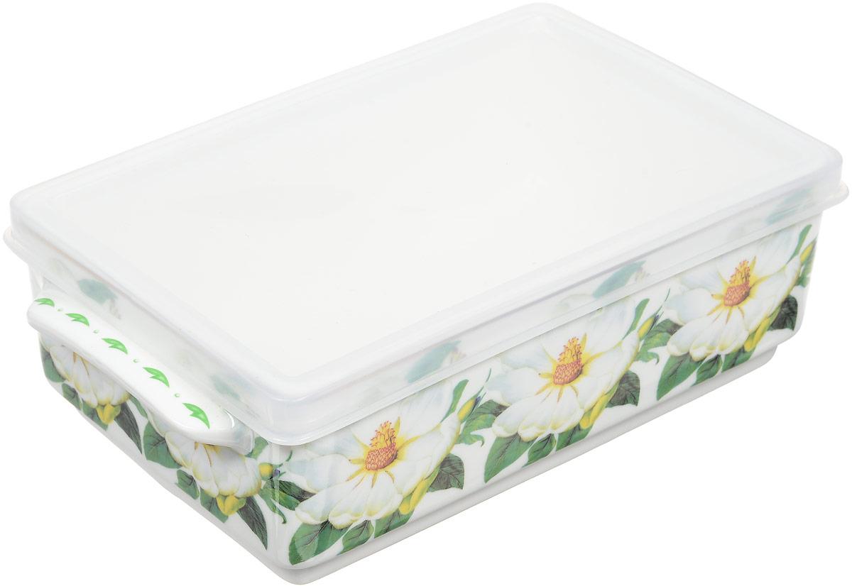 Блюдо для холодца Elan Gallery Белый шиповник, с крышкой, 800 мл504086Блюдо для холодца Elan Gallery Белый шиповник, изготовленное из высококачественной керамики, предназначено для приготовления и хранения заливного или холодца. Пластиковая крышка, входящая в комплект, сохранит свежесть вашего блюда. Также блюдо можно использовать для приготовления и хранения салатов. Оформлено изделие оригинальным рисунком. Такое блюдо украсит сервировку вашего стола и подчеркнет прекрасный вкус хозяйки.Не использовать в микроволновой печи. Размер блюда: 20 х 11,5 х 6 см.