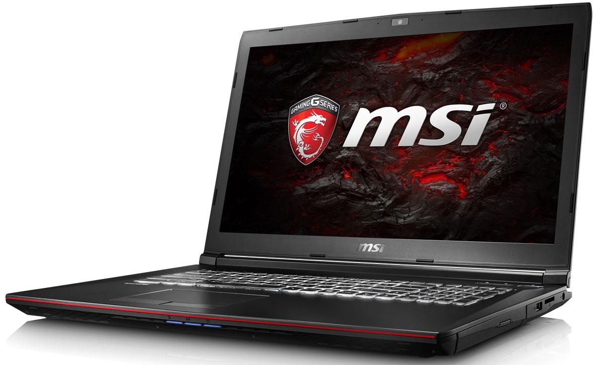 MSI GP72 7QF-1002XRU Leopard Pro, BlackGP72 7QF-1002XRUMSI GP72 7QF - это мощный ноутбук, который адаптирован для современных игровых приложений. В модели гармонично сочетаются агрессивный дизайн, отличная производительность и продуманная эргономика.Седьмое поколение процессоров Intel Core серии H обрело более энергоэффективную архитектуру, продвинутые технологии обработки данных и оптимизированную схемотехнику.Вы сможете достичь максимально возможной производительности вашего ноутбука благодаря поддержке оперативной памяти DDR4-2400, отличающейся скоростью чтения более 32Гбайт/с и скоростью записи 36Гбайт/с. Возросшая на 40% производительность стандарта DDR4-2400 (по сравнению с предыдущим поколением, DDR3-1600) поднимет ваши впечатления от современных и будущих игровых шедевров на совершенно новый уровень.Эксклюзивная технология MSI SHIFT выводит систему на экстремальные режимы работы, одновременно снижая шум и температуру до минимально возможного уровня. Переключаясь между пятью профилями, вы сможете достичь экстремальной производительности своей машины или увеличить время её работы от батарей. Функция легко активируется либо горячими клавишами FN + F7, либо через приложение Dragon Gaming Center.Эксклюзивная технология MSI Cooler Boost 4 заключается в установке под капот вашего мощного ноутбука двух охлаждающих модулей и их объединения с двумя отдельными теплоотводами - для GPU и CPU. Одно нажатие кнопки запуска системы охлаждения на полную мощь, и шесть теплопроводных трубок в сочетании с двумя вентиляторами активно выведут генерируемое системой тепло наружу.Режим SuperSpeed поддерживает скорость передачи данных до 5 Гбит/с, что в 10 раз быстрее USB 2.0. Порт USB Type-C меньше устаревшего Type-A и отличается более удобной реверсивной конструкцией. Кроме того, стандарт USB 3.0 обратно совместим с устройствами USB 2.0.Инновационная технология MSI Matrix Display поддерживает одновременное подключение двух внешних дисплеев: одного - к порту HDMI 1.4, другого - к пор