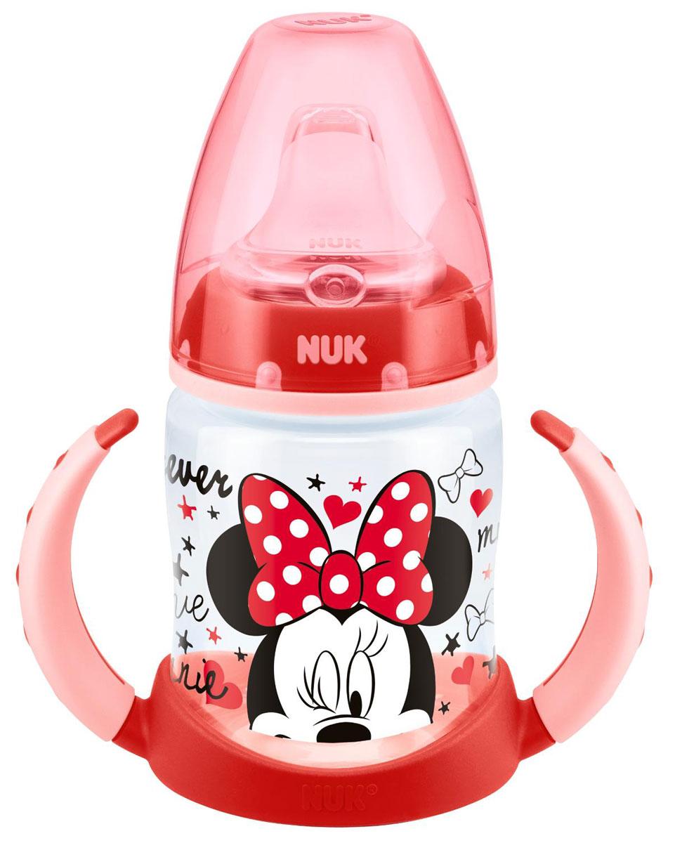 Бутылочка-поильник NUK Дисней Микки, с силиконовым носиком, от 6 до 18 месяцев, цвет: красный, 150 мл nuk поильник с 6 месяцев