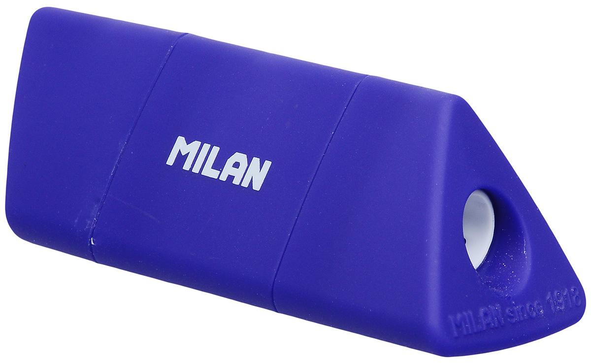 Milan Точилка Slide с контейнером цвет синий20153212_синийУдобная точилка Milan Slide оснащена безопасной системой заточки. Эта система предотвращает отделение лезвия от точилки.Прекрасно подходит для использования в школах. Стальное лезвие острое и устойчиво к повреждению. Идеально подходит для заточки графитовых и цветных карандашей.