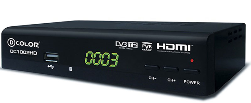 D-Color DC1002HD DVB-T2 цифровой ТВ-тюнер d color mstar 7t01 dc902hd