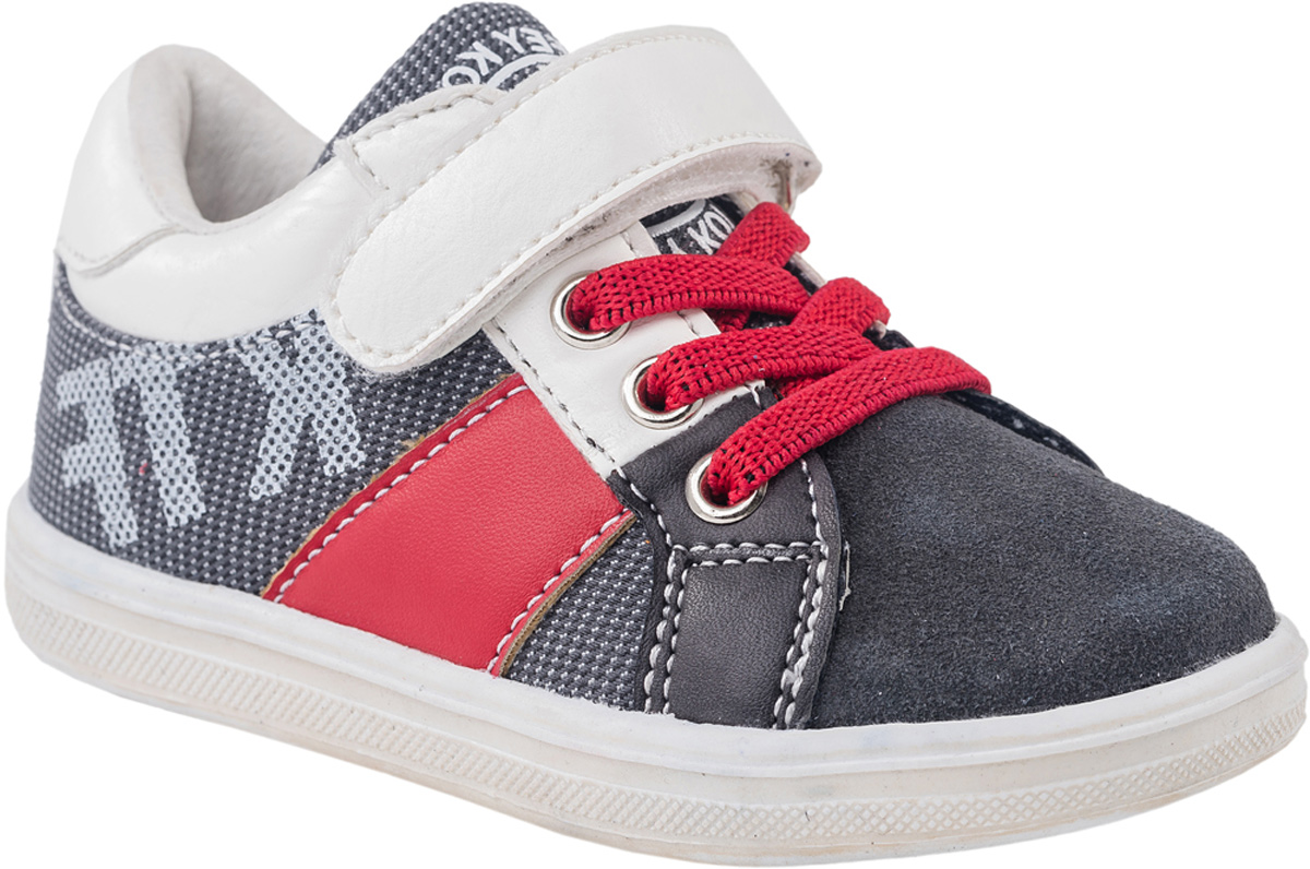 Кроссовки для мальчика Котофей, цвет: серый, красный, белый. 134006-22. Размер 22 кроссовки для мальчика zenden цвет красный 219 33bg 043tt размер 34