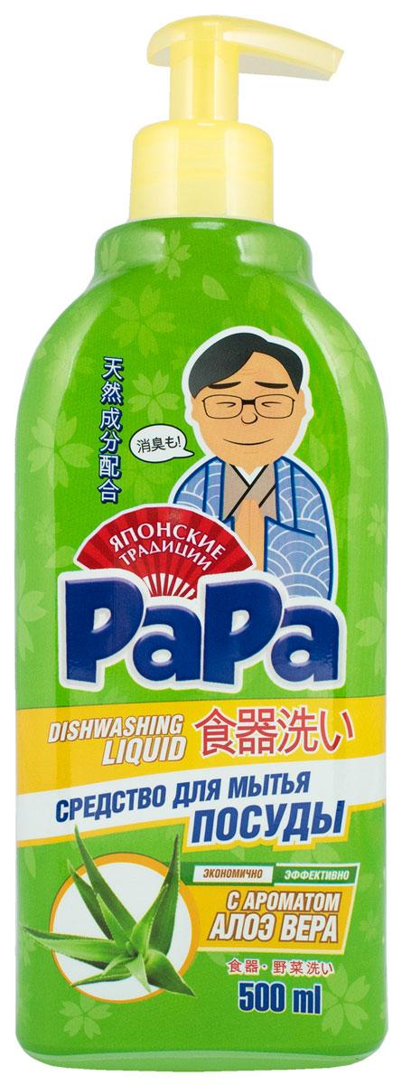 Средство для мытья посуды Papa, концентрат, с ароматом алоэ, 500 мл717468Средство Papa предназначено для мытья посуды и кухонного инвентаря. Оно удаляет любые виды загрязнений и эффективно устраняет неприятные запахи благодаря обильной густой пене. За счет высокой концентрации расход средства минимальный, а благодаря большому объему одной бутылки хватит надолго. Средство обладает 100% биоразлагаемостью, не нанося вреда микрофлоре септических установок. Особенности: Подходит для мытья овощей и фруктов. 100% смываемость с очищаемой поверхности. Легко удаляет жир даже в холодной воде. Подходит для любых видов посуды. Натуральные масла в составе. Приятный аромат. Устраняет неприятные запахи. Экономичный расход. Способ применения: нанести небольшое количество средства на губку, вымыть посуду и ополоснуть водой. Для устранения загрязнений и неприятного запаха с кухонной доски - нанести 10-20 капель средства на доску. Оставить на 20 минут, помыть в теплой воде. Для мытья фруктов и овощей - нанести 1 каплю средства, вспенить, помыть фрукты и овощи. Для устранения запаха с губки - нанести 10-15 капель средства и оставить на 10-15 минут. Способ хранения и меры предосторожности: хранить в недоступном для детей, темном сухом месте. При попадании средства в глаза промыть их большим количеством воды в течение 15-20 минут. При необходимости обратиться к врачу. Использовать строго по назначению. Состав: дистиллированная вода (больше 30%);А-тензиды растительного происхождения (5-15%); Н-тензиды на основе глюкозы (до 5%); глицерин (больше 5%); масла: мускатно-шалфейное, мятное, лемонграссовое, гальбанумовое, аирное; пищевой краситель.Как выбрать качественную бытовую химию, безопасную для природы и людей. Статья OZON Гид