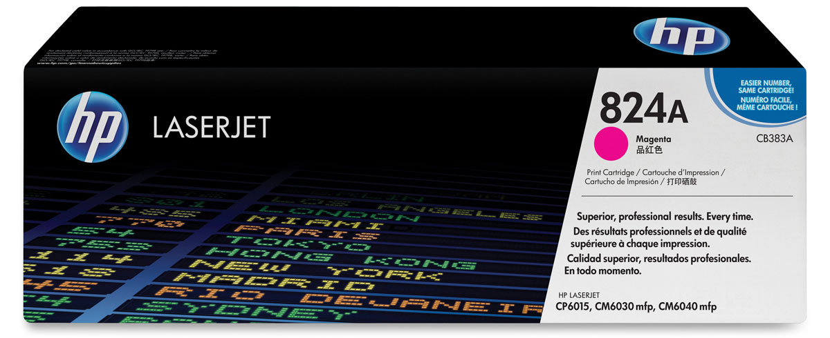 HP CB383A, Magenta тонер-картридж для Color LaserJet CP6015/CM6030/CM6040 картридж hp 38 c9419a light magenta