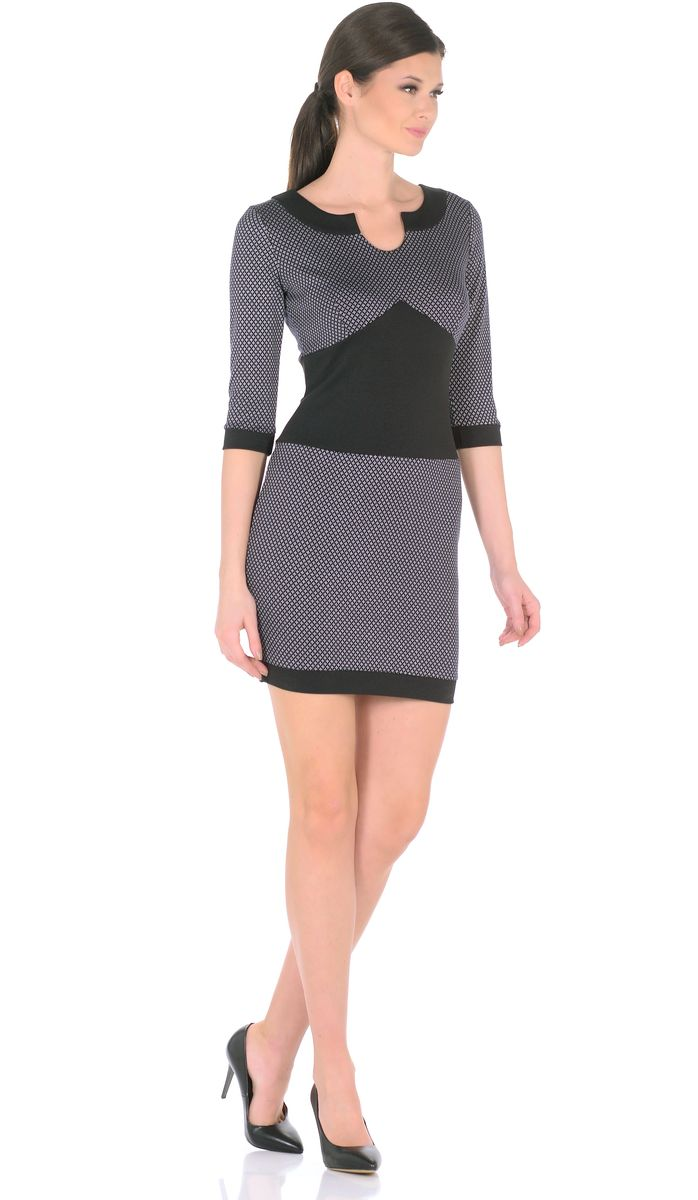 Платье Rosa Blanco, цвет: черный. 3184-К1. Размер 48 липская н изучаю мир вокруг для детей 6 7 лет т 1 2тт
