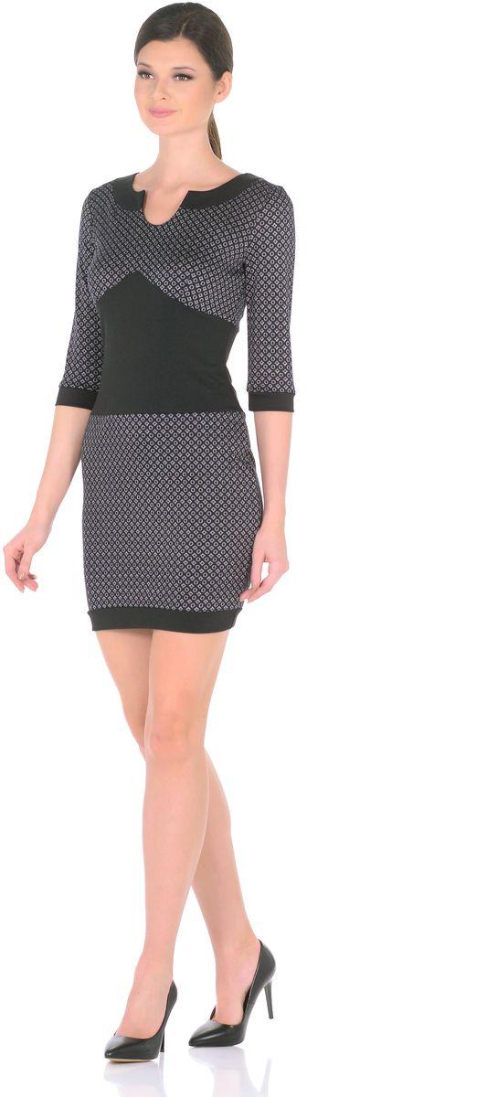 Платье Rosa Blanco, цвет: темно-синий. 3184-Н11. Размер 483184-Н11Модное платье Rosa Blanco станет отличным дополнением к вашему гардеробу. Модель изготовлена из сочетания качественных материалов. Платье длины мини выполнено с оригинальным круглым вырезом горловины, который переходит в капельку. Короткие рукава 3/4 придают изделию особое изящество. Модель не имеет застежек. Платье приобретает особый шарм благодаря вставкам из контрастной ткани.
