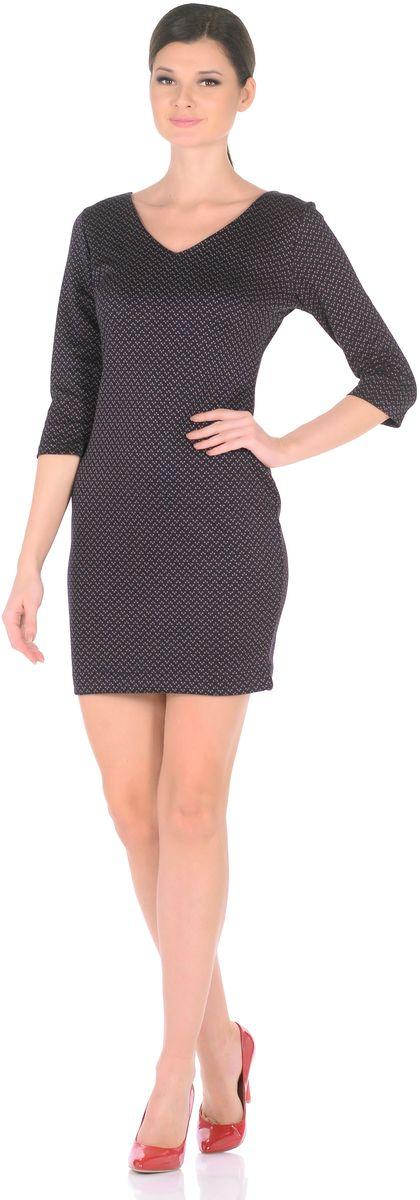Платье Rosa Blanco, цвет: темно-синий. 3194-Т1. Размер 463194-Т1Стильное трикотажное платье Rosa Blanco станет отличным дополнением к вашему гардеробу. Модель изготовлена из сочетания качественных материалов. Платье-миди выполнено с оригинальным V-образным вырезом горловины и короткими рукавами 3/4. Модель не имеет застежек. Платье приобретает особый шарм благодаря своей лаконичности иоптимальной посадки по фигуре.