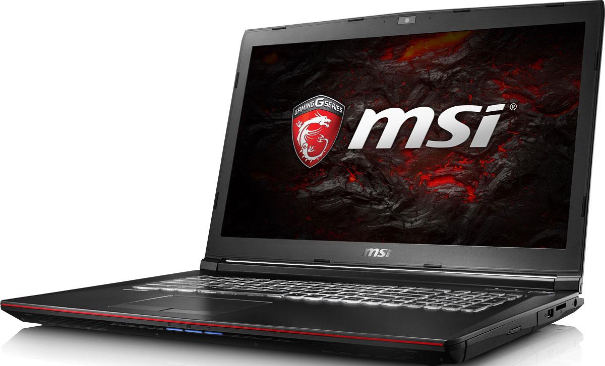 MSI GP72VR 7RF-442RU Leopard Pro, BlackGP72VR 7RF-442RUКомпания MSI создала игровой ноутбук GP72VR 7RF Leopard Pro с новейшим поколением графических карт NVIDIA GeForce GTX 1060. По ожиданиям экспертов производительность GeForce GTX 1060 должна более чем на 40% превысить показатели графических карт GeForce GTX 900M Series. Благодаря инновационной системе охлаждения Cooler Boost и специальным геймерским технологиям, применённым в игровом ноутбуке MSI GP72VR 7RF Leopard Pro, графическая карта новейшего поколения NVIDIA GeForce GTX 1060 сможет продемонстрировать всю свою мощь без остатка. Олицетворяя концепцию Один клик до VR и предлагая полное погружение в игровые вселенные с идеально плавным геймплеем, игровые ноутбуки MSI разбивают устоявшиеся стереотипы об исключительной производительности десктопов. Ноутбуки MSI готовы поразить любого геймера, заставив взглянуть на мобильные игровые системы по-новому.Седьмое поколение процессоров Intel Core серии H обрело более энергоэффективную архитектуру, продвинутые технологии обработки данных и оптимизированную схемотехнику. Производительность Core i7-7700HQ по сравнению с i7-6700HQ выросла в среднем на 8%, мультимедийная производительность - на 10%, а скорость декодирования/кодирования 4K-видео - на 15%. Аппаратное ускорение 10-битных кодеков VP9 и HEVC стало менее энергозатратным, благодаря чему эффективность воспроизведения видео 4K HDR значительно возросла.Вы сможете достичь максимально возможной производительности вашего ноутбука благодаря поддержке оперативной памяти DDR4-2400, отличающейся скоростью чтения более 32 Гбайт/с и скоростью записи 36 Гбайт/с. Возросшая на 40% производительность стандарта DDR4-2400 (по сравнению с предыдущим поколением, DDR3-1600) поднимет ваши впечатления от современных и будущих игровых шедевров на совершенно новый уровень.Запускайте игры быстрее других благодаря потрясающей пропускной способности PCI-E Gen 3.0x4 с поддержкой технологии NVMe на одном устройстве M.2 SSD. Используйте потенциа