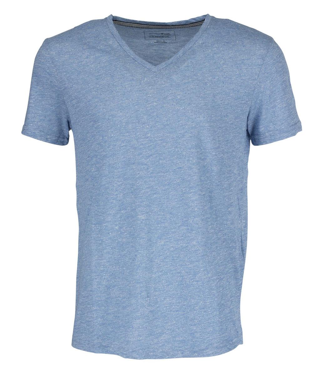Футболка мужская Tom Tailor Denim, цвет: голубой меланж. 1036929.09.12_6695. Размер M (48)1036929.09.12_6695Мужская футболка Tom Tailor Denim выполнена из высококачественного материала. Модель с V-образным вырезом горловины и короткими рукавами.Такая футболка станет стильным дополнением к вашему гардеробу, она подарит вам комфорт в течение всего дня!