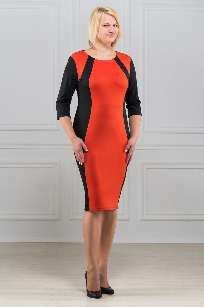 Платье Rosa Blanco, цвет: черный, оранжевый. 33049-1-40. Размер 5033049-1-40Модное платье Rosa Blanco станет отличным дополнением к вашему гардеробу. Модель изготовлена из сочетания качественных материалов. Платье-миди выполнено с удобным приталенным силуэтом и рукавами 3/4. Изделие имеет круглый вырез горловины. Модель без застежек. Платье приобретает особый шарм за счет контрастной вставки по центру.