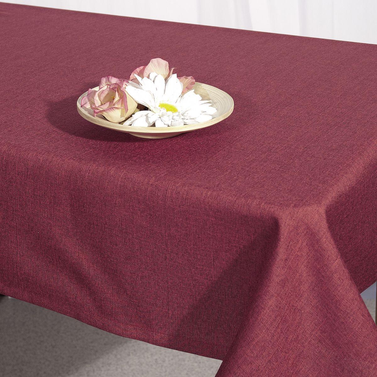 Скатерть Schaefer, прямоугольная, цвет: бордовый, 130 x 170 см. 07056-429 schaefer