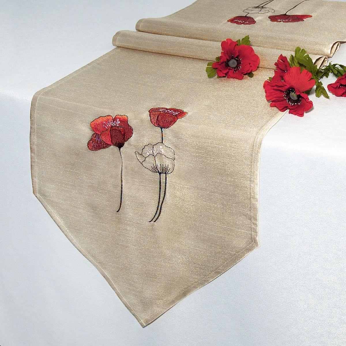 Дорожка для декорирования стола Schaefer, 40 x 160 см, цвет: бежевый. 07201-25407201-254Дорожка для декорирования стола Schaefer может быть использована, как основной элемент,так и дополнение для создания уюта и романтического настроения.Дорожка выполнена из полиэстера. Изделие легко стирать: оно не мнется, не садится и быстросохнет, более долговечно, чем изделие из натуральных волокон.Материал: 100% полиэстер. Размер: 40 x 160 см.
