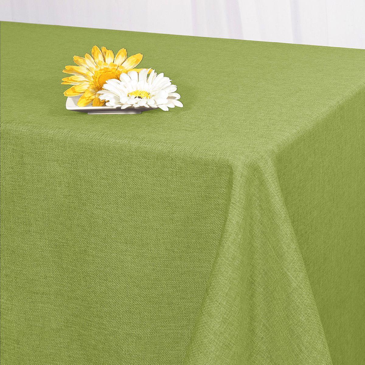 Скатерть Schaefer, прямоугольная, цвет: оливковый, 130 x 160 см. 07500-42707500-427