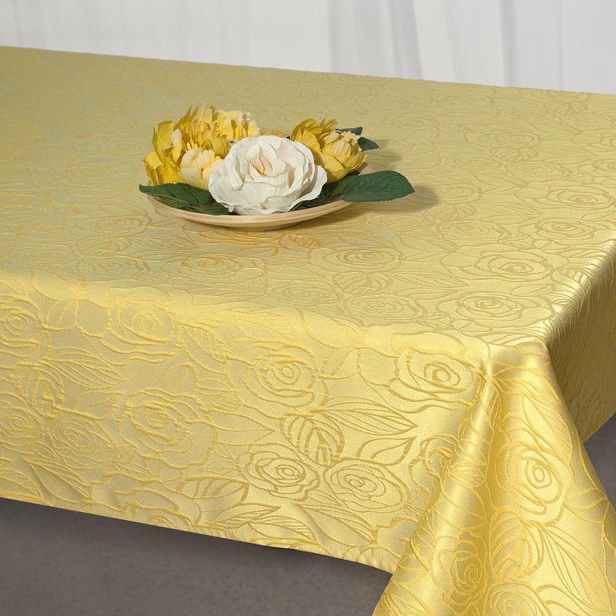 Скатерть Schaefer, прямоугольная, цвет: желтый, 130 x 160 см. 07549-427 schaefer