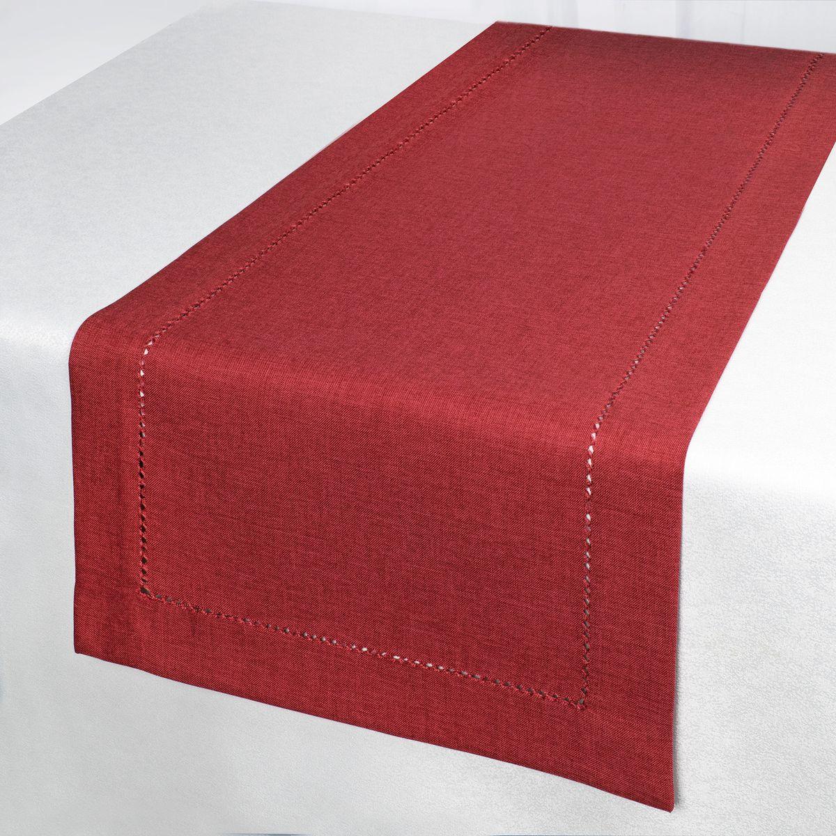 Дорожка для декорирования стола Schaefer, 40 x 140 см, цвет: красный. 07601-21107601-211Дорожка для декорирования стола Schaefer может быть использована, как основной элемент,так и дополнение для создания уюта и романтического настроения.Дорожка выполнена из полиэстера. Изделие легко стирать: оно не мнется, не садится и быстросохнет, более долговечно, чем изделие из натуральных волокон.Материал: 100% полиэстер.Размер: 40 x 140 см.