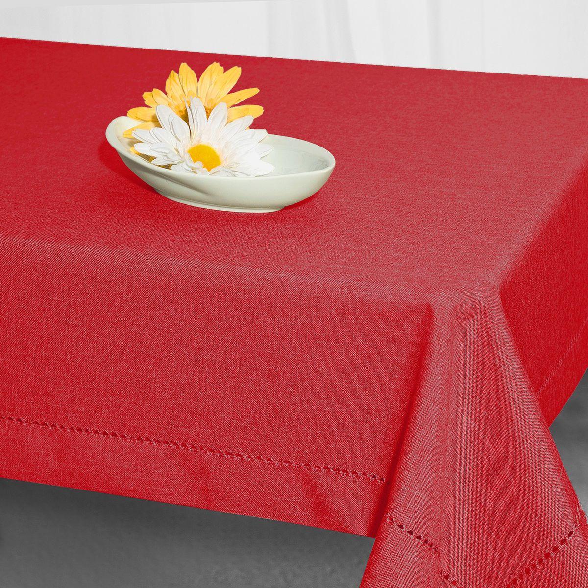 Скатерть Schaefer, прямоугольная, цвет: красный, 130 x 220 см. 07601-44907601-449Стильная скатерть Schaefer выполнена из полиэстера.Изделия из полиэстера легко стирать: они не мнутся, не садятся и быстро сохнут, они более долговечны, чем изделия из натуральных волокон.Немецкая компания Schaefer создана в 1921 году. На протяжении всего времени существования она создает уникальные коллекции домашнего текстиля для гостиных, спален, кухонь и ванных комнат. Дизайнерские идеи немецких художников компании Schaefer воплощаются в текстильных изделиях, которые сделают ваш дом красивее и уютнее и не останутся незамеченными вашими гостями. Дарите себе и близким красоту каждый день!