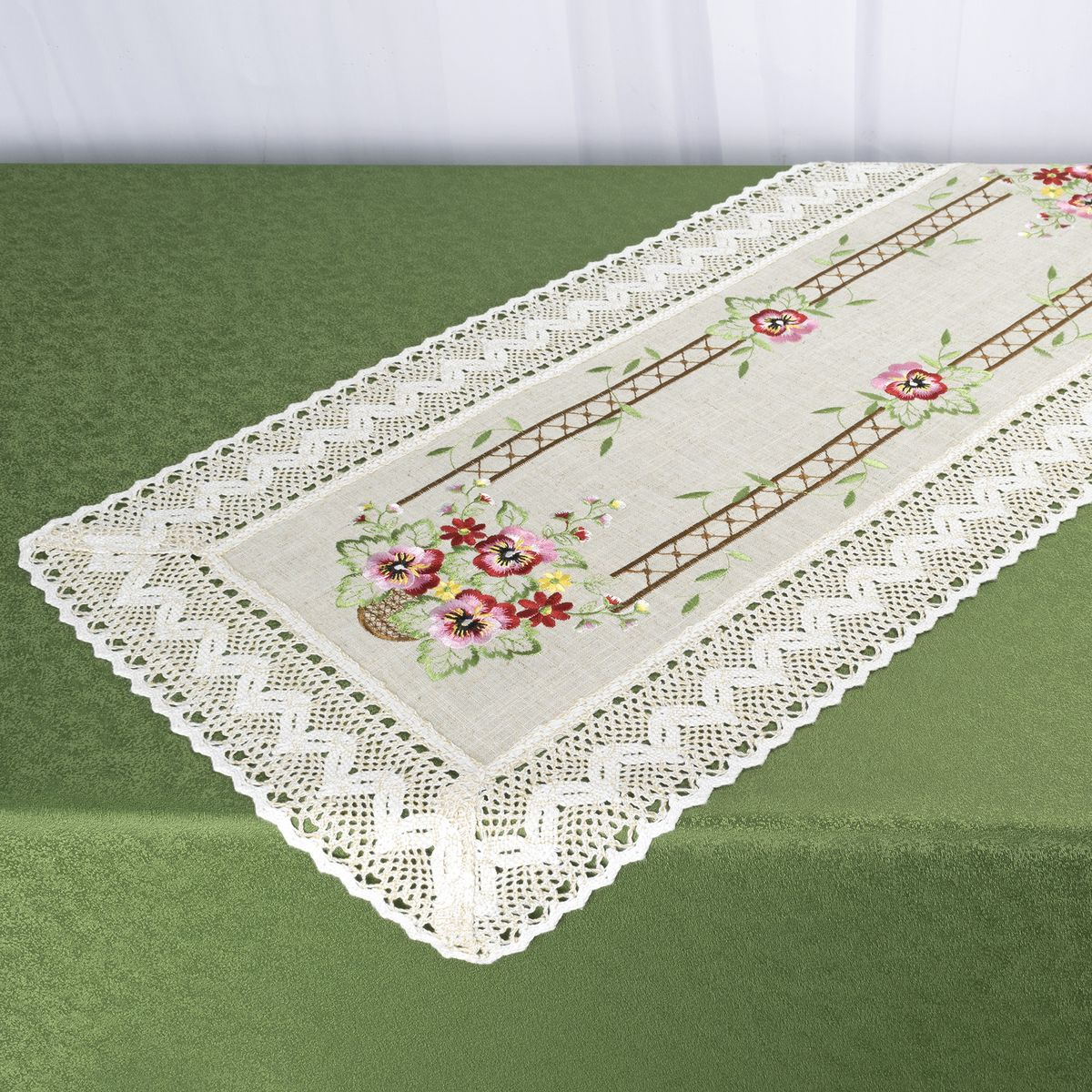 Дорожка для декорирования стола Schaefer, 40 x 90 см, цвет: белый. 07702-200 дорожка 900 1500мм