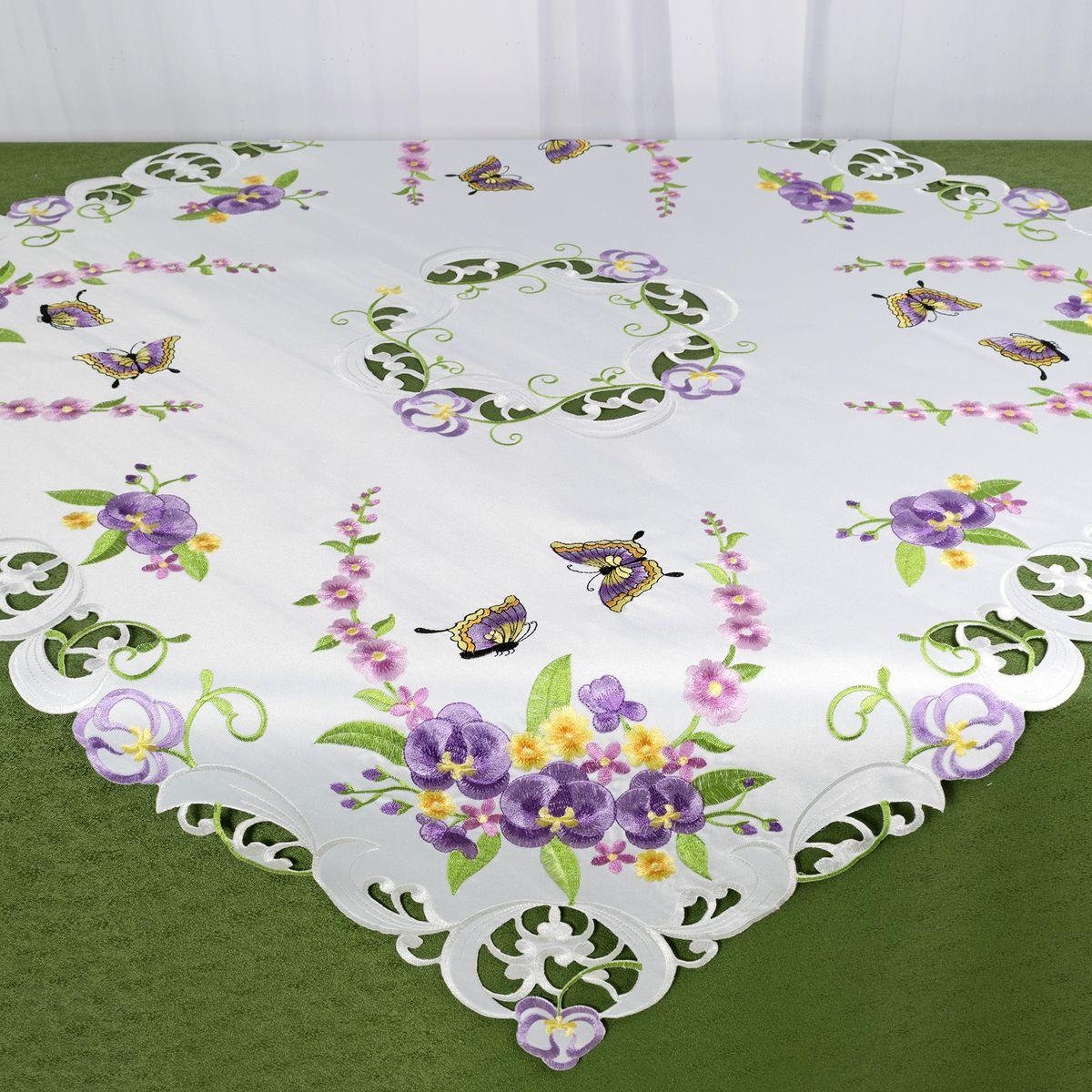 Скатерть Schaefer, квадратная, цвет: белый, 85 x 85 см. 07745-10007745-100Стильная скатерть Schaefer, выполненная из полиэстера, украшена вышивкой. Вышивка дает эффект объема за счет направления стежков при вышивании.Изделия из полиэстера легко стирать: они не мнутся, не садятся и быстро сохнут, они более долговечны, чем изделия из натуральных волокон.Немецкая компания Schaefer создана в 1921 году. На протяжении всего времени существования она создает уникальные коллекции домашнего текстиля для гостиных, спален, кухонь и ванных комнат. Дизайнерские идеи немецких художников компании Schaefer воплощаются в текстильных изделиях, которые сделают ваш дом красивее и уютнее и не останутся незамеченными вашими гостями. Дарите себе и близким красоту каждый день!