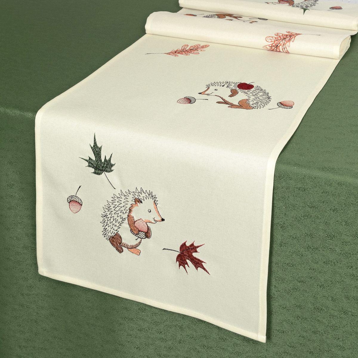 Дорожка для декорирования стола Schaefer , 40 х 140 см, цвет: белый. 07788-21107788-211Дорожка для декорирования стола Schaefer может быть использована, как основной элемент, так и дополнение для создания уюта и романтического настроения.Дорожка выполнена из полиэстера. Изделие легко стирать: оно не мнется, не садится и быстро сохнет, более долговечно, чем изделие из натуральных волокон.Материал: 100% полиэстер.Размер: 40 х 140 см