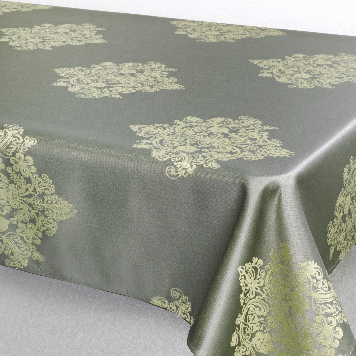 Скатерть Schaefer, прямоугольная, цвет: серый, 130 х 160 см. 07810-42707810-427Стильная скатерть Schaefer выполнена из полиэстера.Изделия из полиэстера легко стирать: они не мнутся, не садятся и быстро сохнут, они более долговечны, чем изделия из натуральных волокон.Немецкая компания Schaefer создана в 1921 году. На протяжении всего времени существования она создает уникальные коллекции домашнего текстиля для гостиных, спален, кухонь и ванных комнат. Дизайнерские идеи немецких художников компании Schaefer воплощаются в текстильных изделиях, которые сделают ваш дом красивее и уютнее и не останутся незамеченными вашими гостями. Дарите себе и близким красоту каждый день!