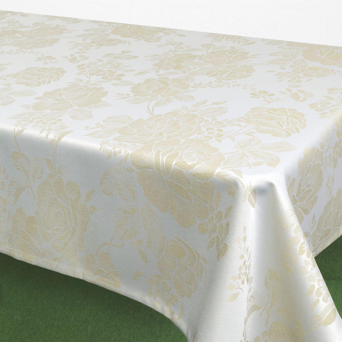 Скатерть Schaefer, прямоугольная, цвет: белый, кремовый, 160 х 220 см. 07837-40807837-408Стильная скатерть Schaefer выполнена из полиэстера.Изделия из полиэстера легко стирать: они не мнутся, не садятся и быстро сохнут, они более долговечны, чем изделия из натуральных волокон.Немецкая компания Schaefer создана в 1921 году. На протяжении всего времени существования она создает уникальные коллекции домашнего текстиля для гостиных, спален, кухонь и ванных комнат. Дизайнерские идеи немецких художников компании Schaefer воплощаются в текстильных изделиях, которые сделают ваш дом красивее и уютнее и не останутся незамеченными вашими гостями. Дарите себе и близким красоту каждый день!
