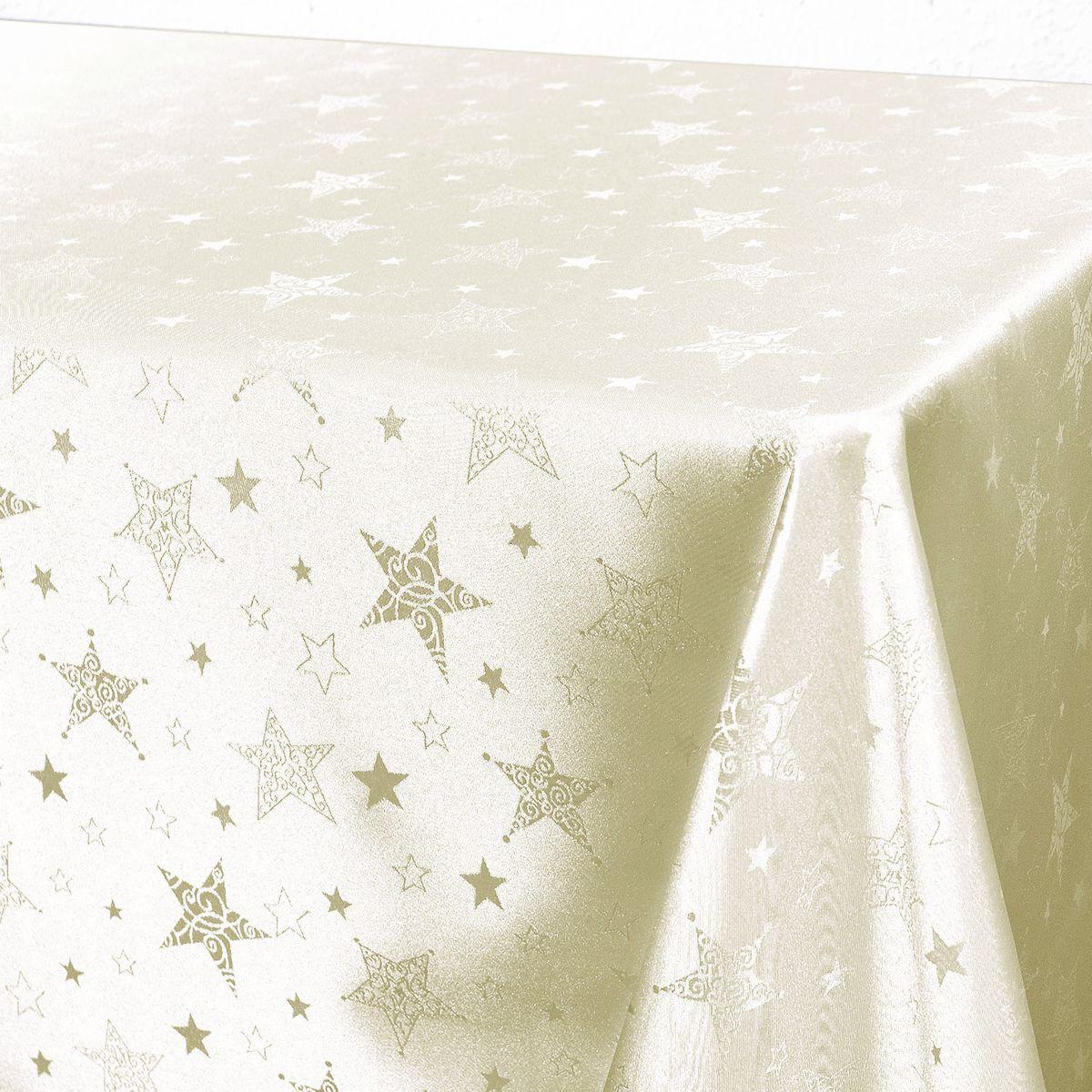 """Стильная скатерть """"Schaefer"""" выполнена из полиэстера.  Изделия из полиэстера легко стирать: они не мнутся, не садятся и быстро сохнут, они более долговечны, чем изделия из натуральных волокон.  Немецкая компания """"Schaefer"""" создана в 1921 году. На протяжении всего времени существования она создает уникальные коллекции домашнего текстиля для гостиных, спален, кухонь и ванных комнат. Дизайнерские идеи немецких художников компании """"Schaefer"""" воплощаются в текстильных изделиях, которые сделают ваш дом красивее и уютнее и не останутся незамеченными вашими гостями. Дарите себе и близким красоту каждый день!"""