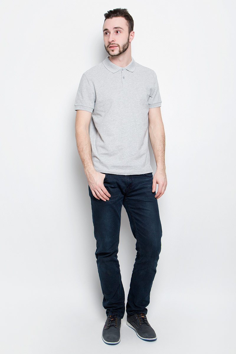 Поло мужское Baon, цвет: светло-серый. B707201. Размер L (50) поло мужское baon цвет белый b707025
