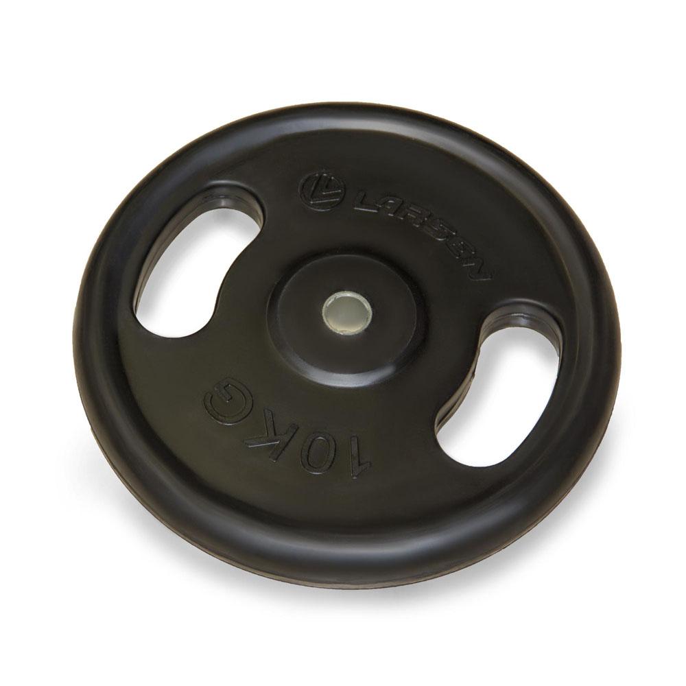Диск обрезиненный Larsen NT121N, посадочный диаметр 25,6 мм, 10 кг диск обрезиненный larsen с ручками nt121n 31мм 20кг