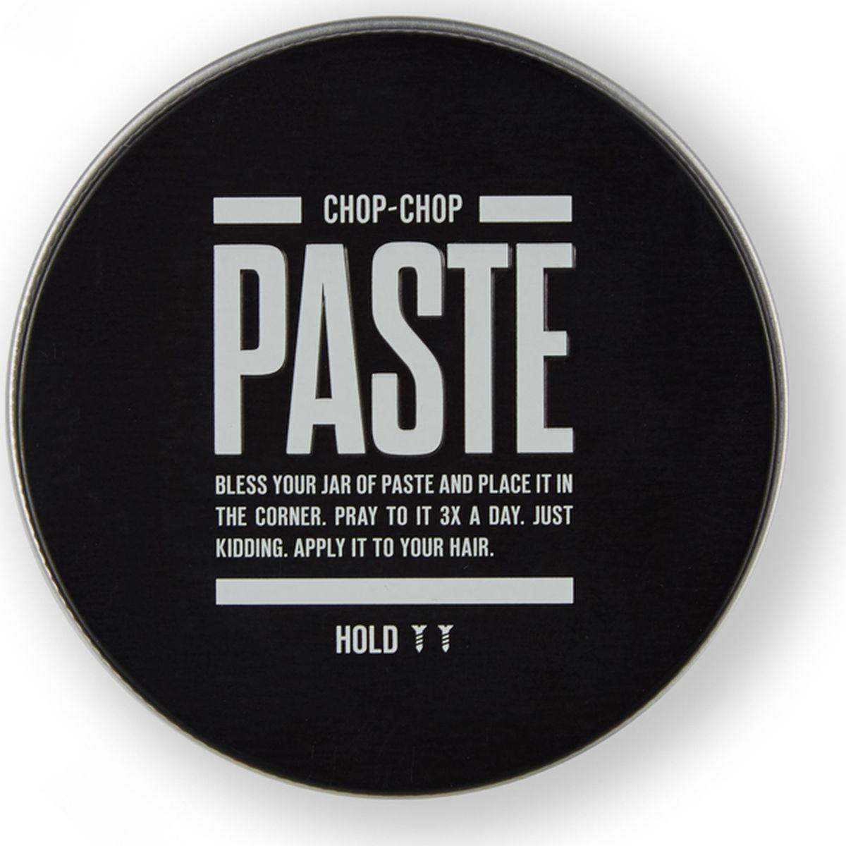 Chop-Chop Паста для волос, 100 млCHPCHP.PST.BФирменное матовое средство для укладки волос с тонким ароматом грейпфрута. Мягкая и деликатная, но в то же время уверенная фиксация. Подходит как для коротких, так и для длинных волос. Основа: водная Фиксация: 2/3 Текстура: матовый эффект Объем: 100 мл