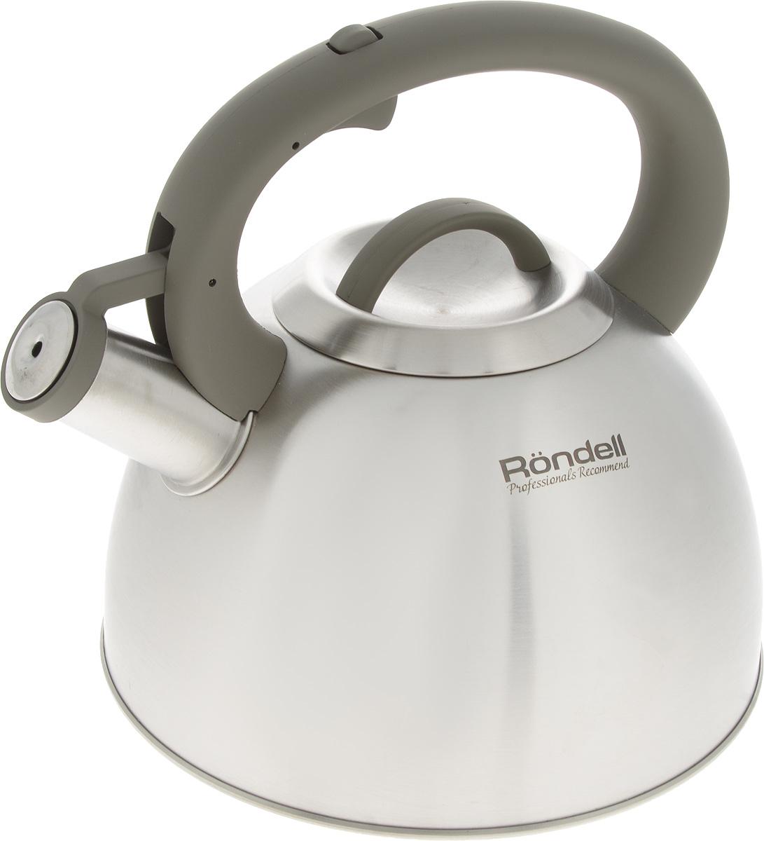 """Чайник Rondell """"Balance"""" изготовлен из высококачественной нержавеющей стали 18/10 с матовой полировкой. Нержавеющая сталь обладает высокой устойчивостью к коррозии, не вступает в реакцию с холодными и горячими продуктами и полностью сохраняет их вкусовые качества.Чайник оснащен фиксированной ручкой из бакелита с покрытием Soft-Touch. Носик чайника имеет откидной свисток, звуковой сигнал которого подскажет, когда закипит вода.Благодаря чайнику Rondell """"Balance"""", вы будете постоянно ощущать тепло и уют на вашей кухне.Подходит для всех типов плит, включая индукционные. Можно мыть в посудомоечной машине. Диаметр (по верхнему краю): 10 см. Высота (без учета ручки и крышки): 13 см. Высота (с учетом ручки): 23 см"""