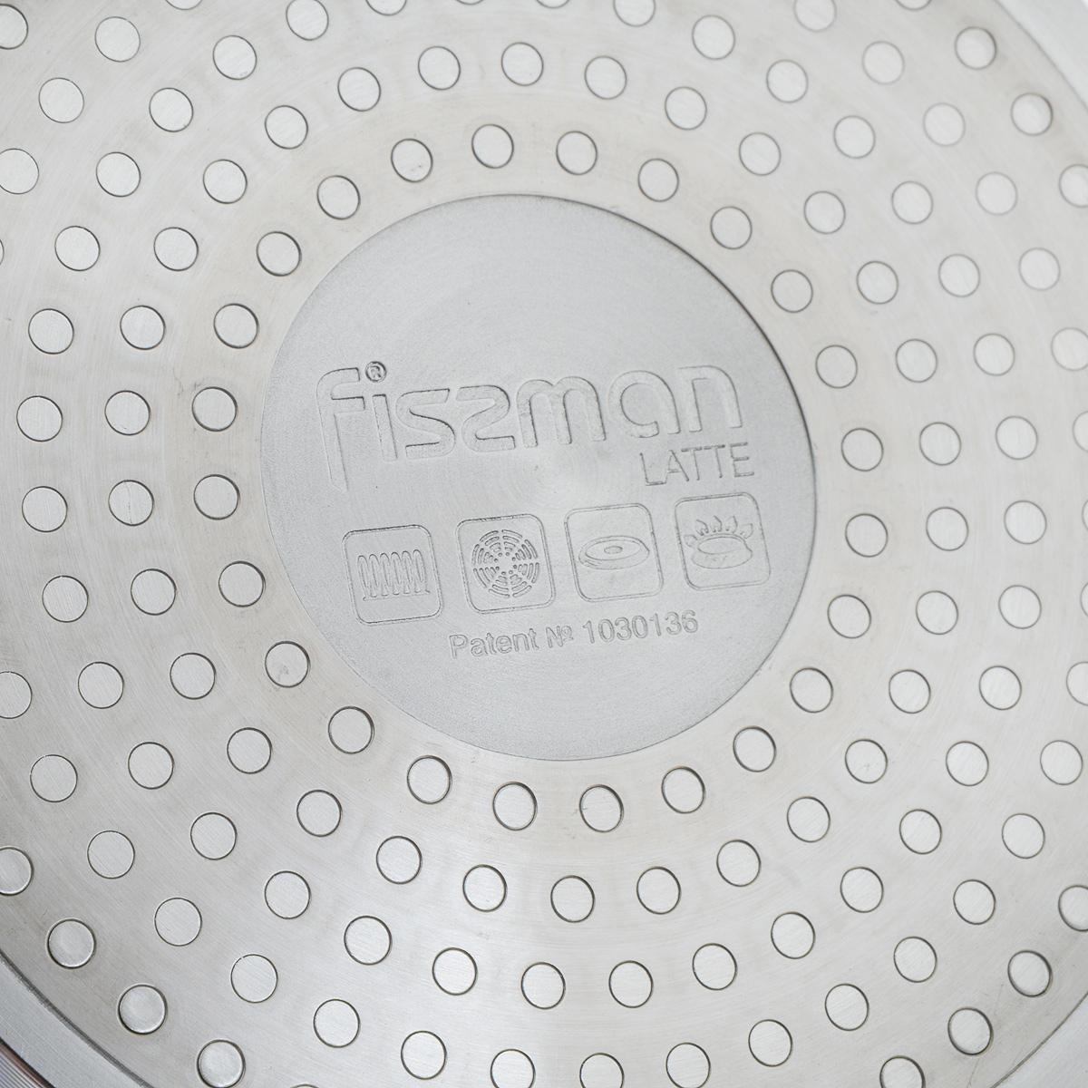 """Глубокая сковорода Fissman """"Latte"""" изготовлена из алюминия со сверхпрочным  антипригарным  покрытием TouchStone, состоящим из нескольких слоев натуральной каменной крошки на  основе  минеральных компонентов. Такое покрытие безопасно для здоровья человека и не вредит  окружающей среде. Индукционное дно быстро и равномерно прогревается, что позволяет  избежать недожаренных продуктов.  Сковорода имеет удобную бакелитовую ручку, которая не скользит в мокрых руках и не  нагревается в процессе приготовления.   Использование сковороды Fissman """"Latte"""" создаст новые яркие впечатления при  приготовлении  ваших блюд. Подходит для газовых, электрических, стеклокерамических и индукционных плит. Можно  мыть в посудомоечной машине.  Высота стенки: 5,5 см.  Длина ручки: 17 см. Диаметр (по верхнему краю): 20 см."""