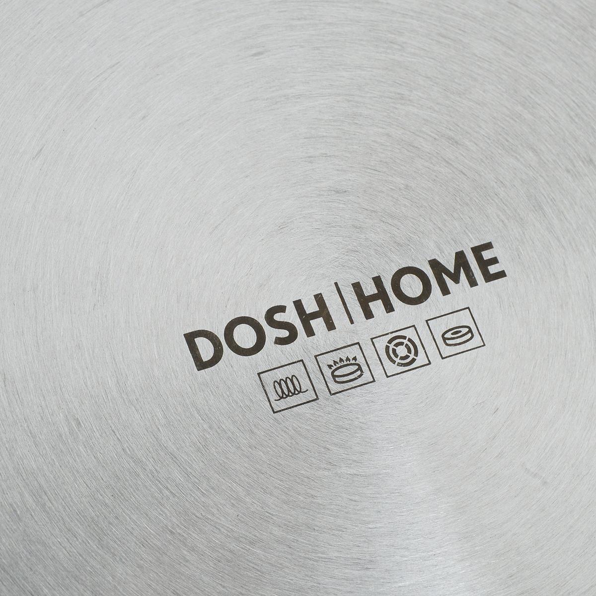 """Сковорода-гриль Dosh l Home """"Eridanus"""" выполнена из литого алюминия стандарта EN601 с  отличным швейцарским антипригарным покрытием премиум класса (ILAG Ultimate). Это  трехслойное покрытие с усилением в виде керамических частиц в каждом из слоев. Его  отличает  высокая устойчивость к царапинам, истираемости и коррозии. Данное покрытие рассчитано  на  интенсивное домашнее и профессиональное использование.  Сковорода оснащена съемной бакелитовой ручкой, которая отлично экономит пространство  и  выдерживает температуру до 180°С. Механизм снятия ручки изготовлен методом  гальванопластики.  Подходит для использования на электрических, газовых, стеклокерамических,  индукционных и конвекторных печах. Подходит для использования в духовке (без ручки).  Можно  мыть в посудомоечной машине. Высота стенок: 4,5 см.  Длина ручки: 19 см."""