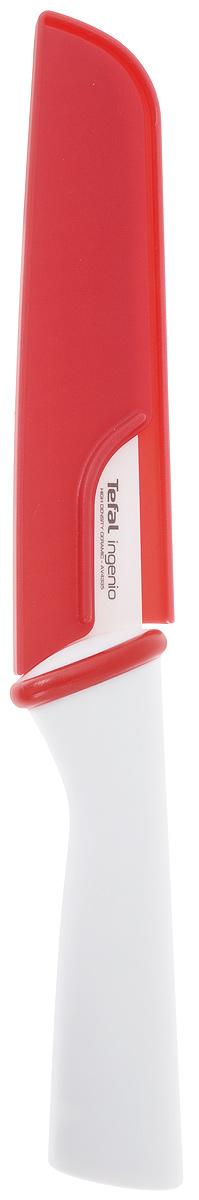 Нож для хлеба Tefal Ingenio White, керамический, с чехлом, длина лезвия 16 смK1530114Нож Tefal Ingenio White идеально подходит для нарезки хлеба всех сортов, овощей и других продуктов. Лезвие ножа изготовлено из высококачественной керамики.Керамическое лезвие при надлежащем обращении длительное время сохраняет свою остроту и редко нуждается в заточке. Эргономичная ручка, выполненная из пластика, не скользит в руках и делает резку удобной и безопасной.Процесс резки происходит плавно и легко. Нож не оставляет после себя запаха и послевкусия, что позволяет полностью сохранить свежесть продуктов. Такой нож станет незаменимым помощником на вашей кухне и займет достойное место среди кухонныхаксессуаров. Общая длина ножа: 28 см. Длина лезвия: 16 см. Можно мыть в посудомоечной машине.