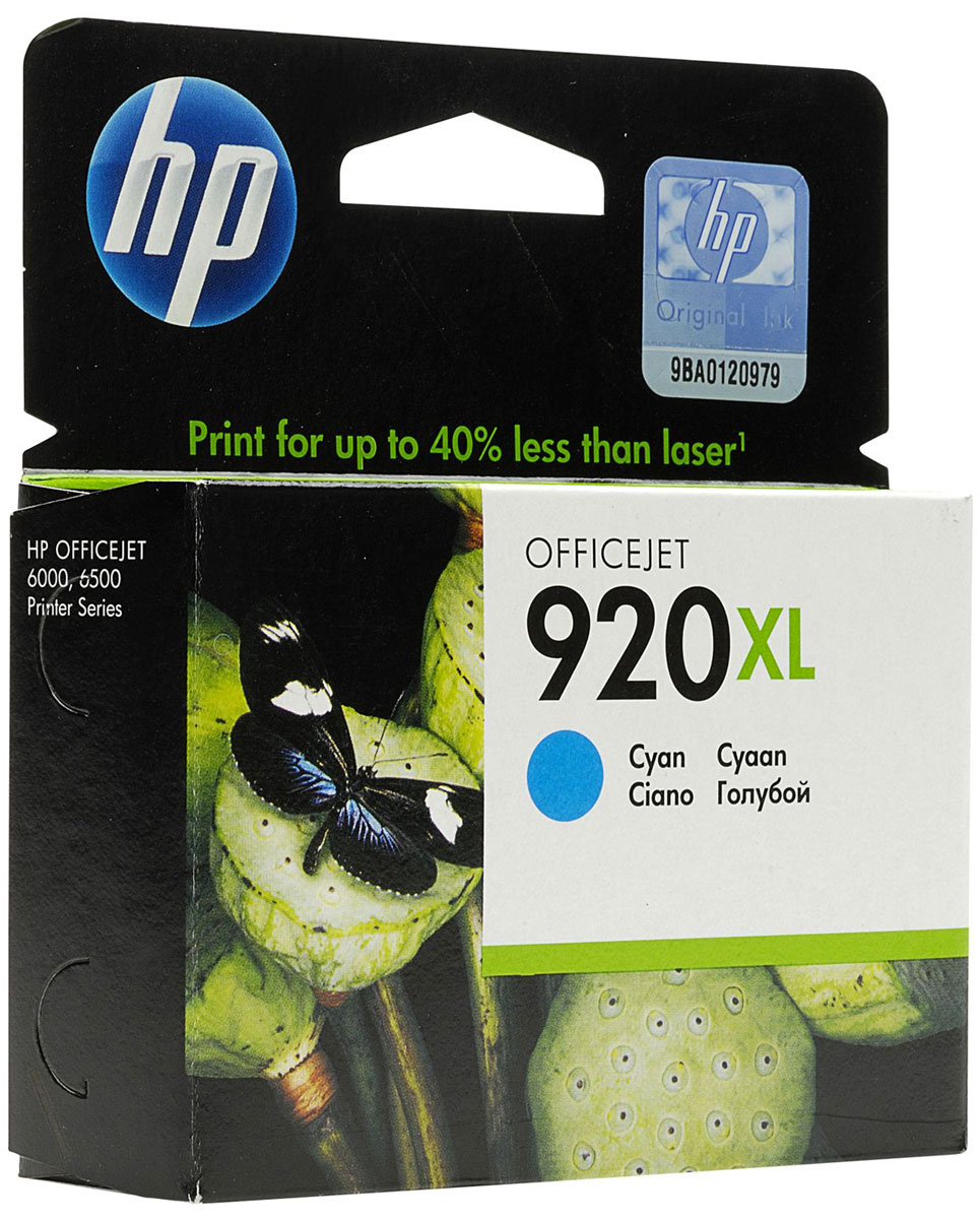 HP CD972AE (№ 920XL), Cyan картридж для OJ 6000/6500/7000 hp cd972ae