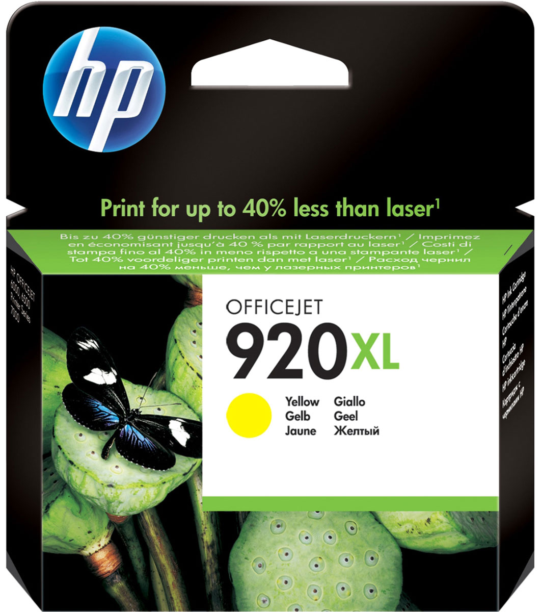 HP CD974AE (№ 920XL), Yellow картридж для OJ 6000/6500/7000CD974AEЖелтые картриджи HP 920XL с оригинальными чернилами HP гарантируют печать цветных документов профессионального качества с меньшими затратами по сравнению с лазерными устройствами. Оригинальные чернила HP обеспечивают быстрое высыхание документов, особенно при использовании бумаги с логотипом ColorLok.Оригинальные чернила HP позволяют печатать цветные документы профессионального качества почти на 40 % дешевле, чем при использовании лазерных устройств. Раздельные картриджи обеспечивают экономичную печать.Добейтесь впечатляющего качества печати. Оригинальные чернила HP обеспечивают быстрое высыхание документов, особенно при использовании бумаги с логотипом ColorLok. Технологии HP позволяют заменять картриджи без особых усилий.Воспользуйтесь функцией оповещения о низком уровне чернил и оцените удобство приобретения расходных материалов с помощью системы HP SureSupply. Вы можете ознакомиться со списком картриджей, которые можно использовать на вашем принтере, и заказать их в Интернете.