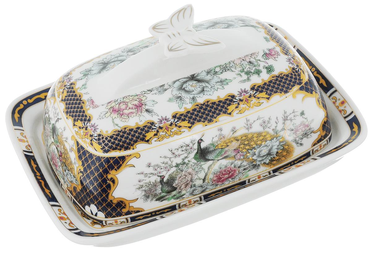 Масленка Elan Gallery Бабочка. Павлин на золоте740243Великолепная масленка Elan Gallery Бабочка. Павлин на золоте, выполненная из высококачественной керамики, предназначена для красивой сервировки и хранения масла. Она состоит из подноса и крышки. Масло в ней долго остается свежим, а при хранении в холодильнике не впитывает посторонние запахи.Масленка Elan Gallery Бабочка. Павлин на золоте идеально подойдет для сервировки стола и станет отличным подарком к любому празднику.Не рекомендуется применять абразивные моющие средства. Не использовать в микроволновой печи.Размер подноса: 17 х 12,5 х 2,3 см.Размер крышки: 14,5 х 10 х 7 см.Общий размер масленки: 17 х 13 х 8 см.