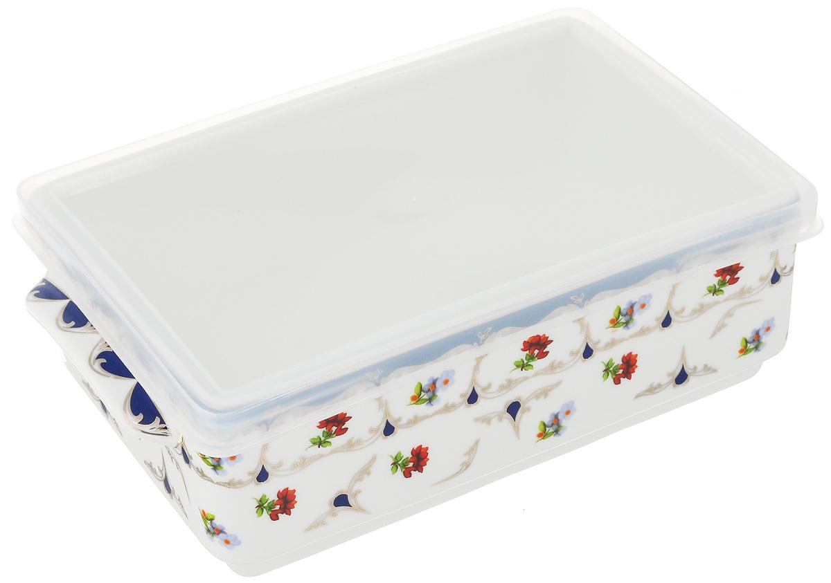 Блюдо для холодца Elan Gallery Цветочек, 800 мл504093Блюдо для холодца Elan Gallery Цветочек, изготовленное из высококачественной керамики, предназначено для приготовления и хранения заливного или холодца. Пластиковая крышка, входящая в комплект, сохранит свежесть вашего блюда. Также блюдо можно использовать для приготовления и хранения салатов. Оформлено изделие оригинальным рисунком. Такое блюдо украсит сервировку вашего стола и подчеркнет прекрасный вкус хозяйки.Не использовать в микроволновой печи. Размер блюда: 20 х 11,5 х 6 см.