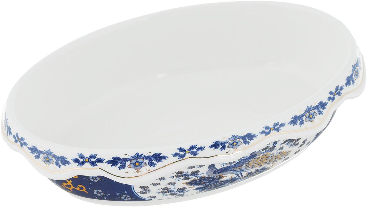 Блюдо-шубница Elan Gallery Павлин синий, 900 мл503598Блюдо-шубница Elan Gallery Синий павлин, изготовленное из высококачественной керамики, предназначено как для запекания, так и для последующей сервировки. Оформлено изделие оригинальным рисунком. Такое блюдо украсит сервировку вашего стола и подчеркнет прекрасный вкус хозяйки.Не использовать в микроволновой печи. Размер блюда: 22 х 15,5 х 5,6 см.