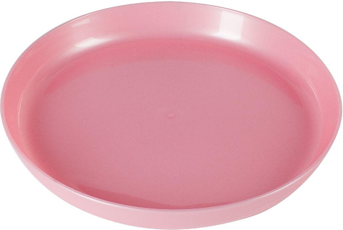 Little Angel Тарелка детская цвет розовый little angel мусорная корзина круглая 7 л city cars little angel голубой