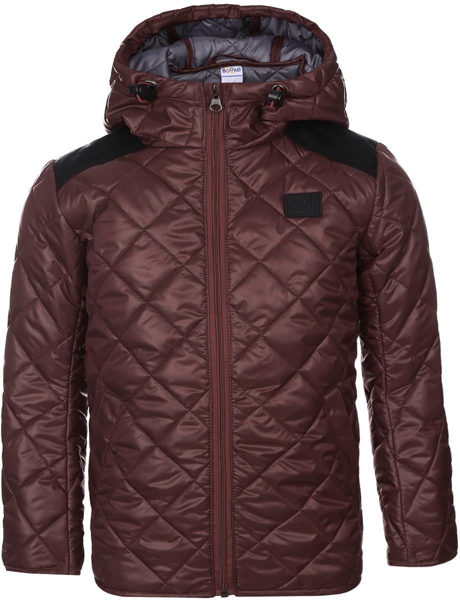 Куртка для мальчика Boom!, цвет: красный. 70036_BOB_вар.1. Размер 158, 11-12 лет70036_BOB_вар.1Стильная куртка для мальчика Boom! изготовлена из 100% полиэстера. В качестве утеплителя используется синтепон - 100% полиэстер. Куртка с несъемным капюшоном застегивается на пластиковую застежку-молнию с защитой подбородка. Капюшон регулируется при помощи эластичного шнурка со стопперами. По бокам предусмотрены два втачных кармана.
