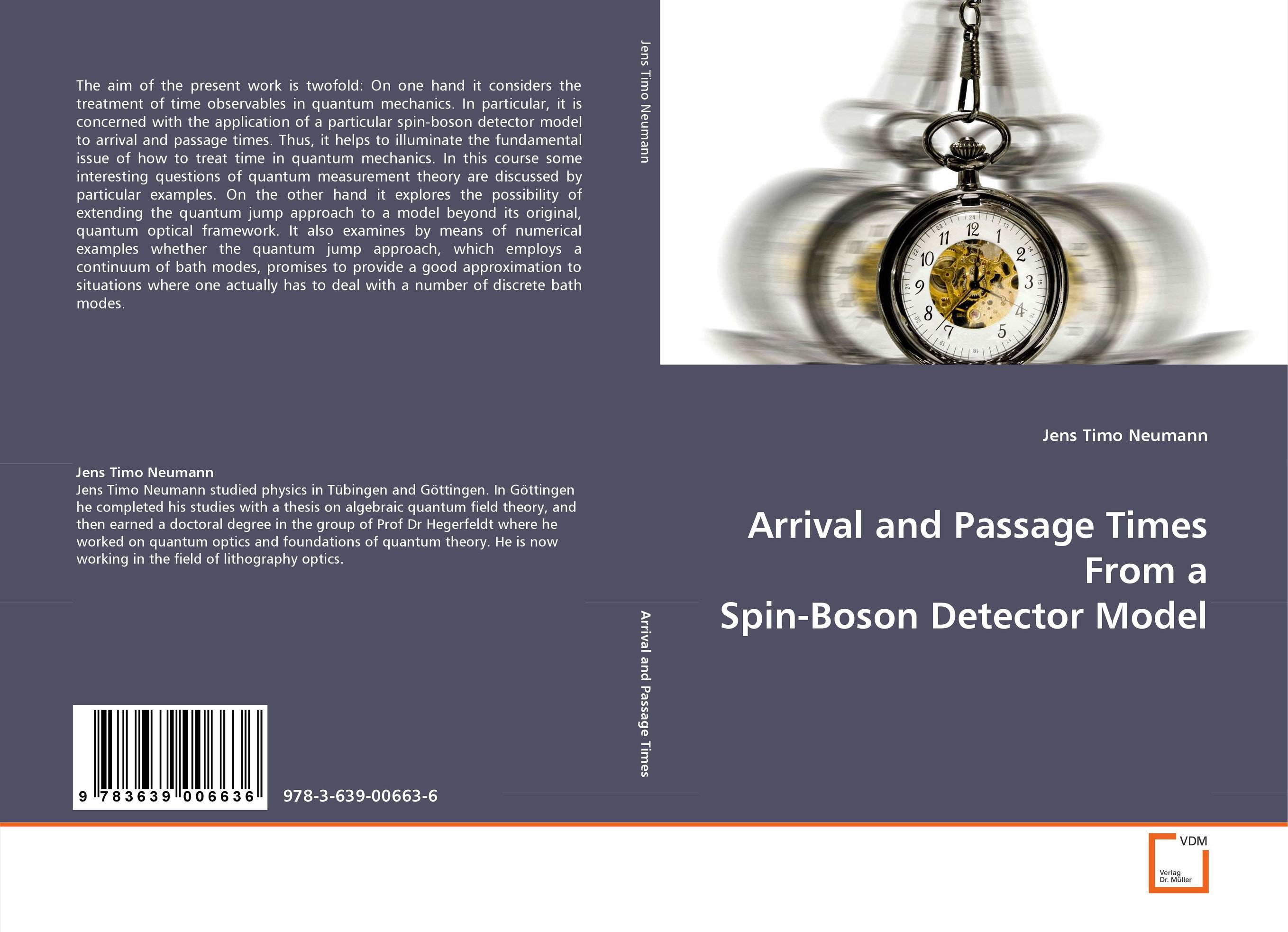 Arrival and Passage Times From a Spin-Boson Detector Model